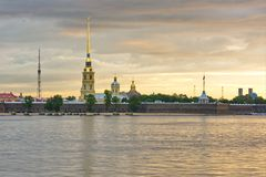 The Peter and Paul Fortress, St. Petersburg, Russia Stock Photography