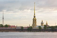 The Peter and Paul Fortress, St. Petersburg, Russia Stock Photos