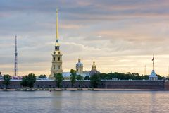 The Peter and Paul Fortress, St. Petersburg, Russia Stock Photo