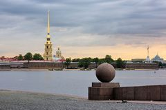 The Peter and Paul Fortress, St. Petersburg, Russia Royalty Free Stock Photography
