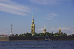 Peter and Paul fortress ,St. Petersburg, Royalty Free Stock Photography