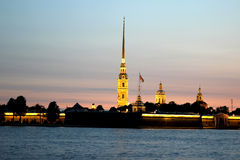 Peter and Paul Fortress in St. Petersburg Royalty Free Stock Photography