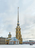 Peter and Paul Fortress in St. Petersburg in winter Stock Photography