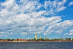 Peter and Paul fortress   in summer day Royalty Free Stock Photography
