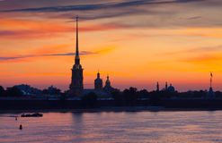 Peter and Paul Fortress in summer morning Royalty Free Stock Photos