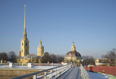 Peter and Paul fortress on a Sunny winter day. St. Petersburg Stock Images
