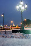 Peter and Paul Fortress in winter evening Stock Image