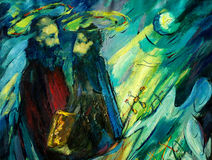 Peter and paul , painting by oil on canvas Stock Images