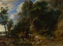 Peter Paul Rubens - l'endroit d'arrosage images stock