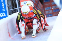 Peter Penz and Georg Fischler - luge royalty free stock photos