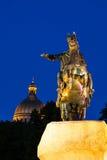 Peter Pierwszy na końskim pobliskim rzecznym Neva w Petersburg Fotografia Royalty Free