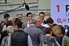 Peter Pilz alla conferenza stampa fotografie stock