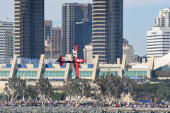 Peter Podlunsek of Slovenia performs during Red Bull Air Race Royalty Free Stock Photo