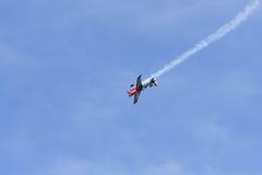 Peter Podlunsek von Slowenien führt während Red Bull-Wettfliegen durch Stockbild
