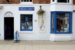 Peter Rabbit store. Outside The Peter Rabbit shop. Stratford upon Avon, Warwickshire, England, UK Stock Photo
