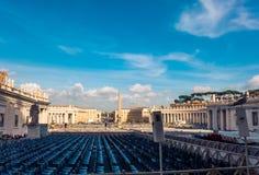 peter s fyrkantig st vatican Royaltyfri Bild