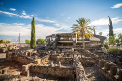 Peter's House in Jesus Town of Capernaum Stock Photos