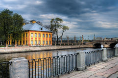 Peter's house in Summer garden. Saint-Petersburg, Russia. Royalty Free Stock Photography
