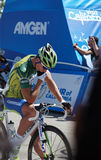 Peter Sagan 2012 Amgen Tour of California. 2012 Amgen Tour of California Stage 6 from Palmdale to Big Peter Sagan of Liquigas-Cannondale sitting on his bike Royalty Free Stock Photography
