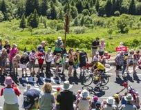Peter Sagan en el jersey amarillo - Tour de France 2016 Imágenes de archivo libres de regalías