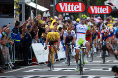 Peter Sagan. Is finishing of 1st stage of Tour de France 2012, July 01, 2012 Stock Photo
