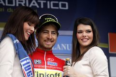 Peter Sagan Team Tinkoff - Saxo Royalty Free Stock Images