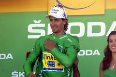 Peter Sagan Team Tinkoff - Saxo Tour de France 2015 Royalty Free Stock Photography