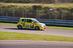 Peter Schreur ist sein schneller Suzuki Lizenzfreie Stockbilder