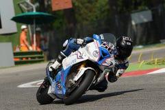 Peter Sebestyen BMW S1000 RR SBK EVO BMW Team Toth Imola SBK 2014. Imola SBK 2014 Superbike Motorbikes Bikes Royalty Free Stock Image