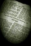 Peter sepiowej biblii 2 serii Zdjęcia Stock