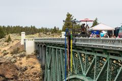 Bungee jumping in Oregon Royalty Free Stock Photo