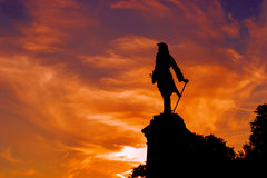 Peter statue silhouette Royalty Free Stock Photos