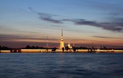 Peter-und Paul-Festung, St Petersburg, Russland Stockbild