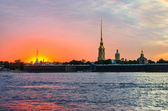 Peter-und Paul-Festung in St Petersburg, Russland Lizenzfreies Stockbild