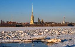 Peter und Paul Fortress im Winter St Petersburg, Russland Stockfoto