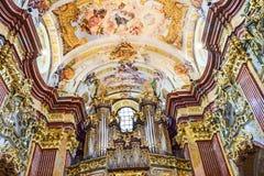 Peter und Paul-Kirche in der Melk Abtei Lizenzfreie Stockfotos