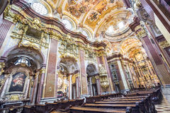 Peter und Paul-Kirche in der Melk Abtei Stockfotos