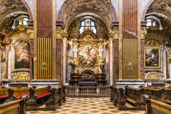 Peter und Paul-Kirche in der Melk Abtei Lizenzfreie Stockbilder