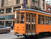 The `Peter Witt` Street Car built for Milan, Italy, 3. royalty free stock photography