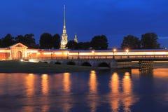 Peter y Paul Fortress en St Petersburg Fotografía de archivo
