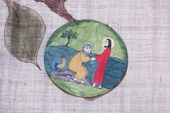 Peter zaprzecza Jezus zanim kogut gaworzy trzy czasu obrazy royalty free