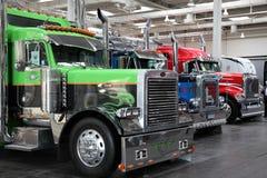 Peterbilt lastbilar Fotografering för Bildbyråer