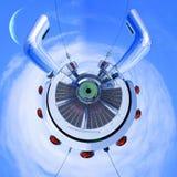 Peterbilt stapelt Zusammenfassung Stockfoto