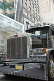 Peterbilt Truck in Manhattan NYC, USA Royalty Free Stock Photos
