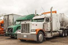 Peterbilt truck on a parking lot Royalty Free Stock Photos