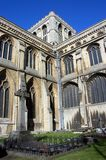 Peterborough Cathedral and cemetery. Stock Image