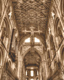Peterborough Cathedral The Hanging Cross HDR Sepia Tone Stock Photos