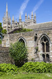 Peterborough Cathedral in the UK royalty free stock photography