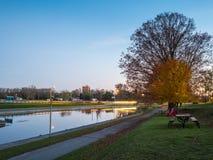 Peterborough dźwignięcie Blokuje Trentu Severn drogę wodną Przy półmrokiem obrazy royalty free