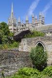 Peterborough domkyrka i UK Arkivfoto